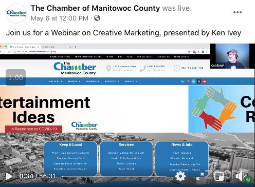 I hosted a Chamber webinar 1