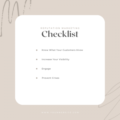 The Simple Reputation Checklist: Essential for Any Brand
